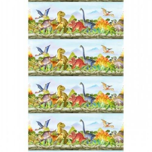 In the Beginning - Dinosaur Friends Border Stripe
