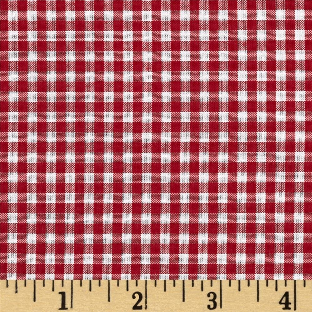 Spechler Vogel - 1/8 in. gingham Red