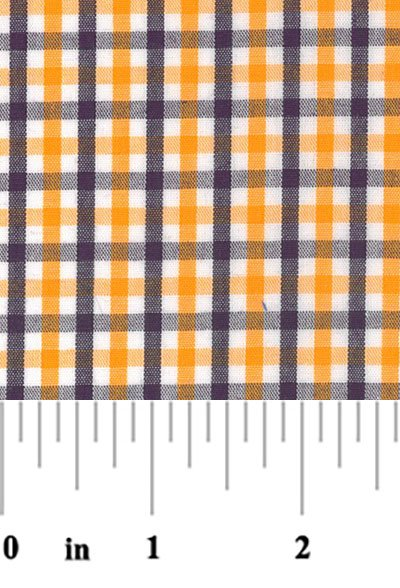 Fabric Finders  - tri check - purple, gold and white