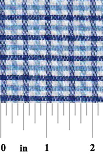 Fabric Finders - Tri Check Cobalt Nautical and White Check Fabric
