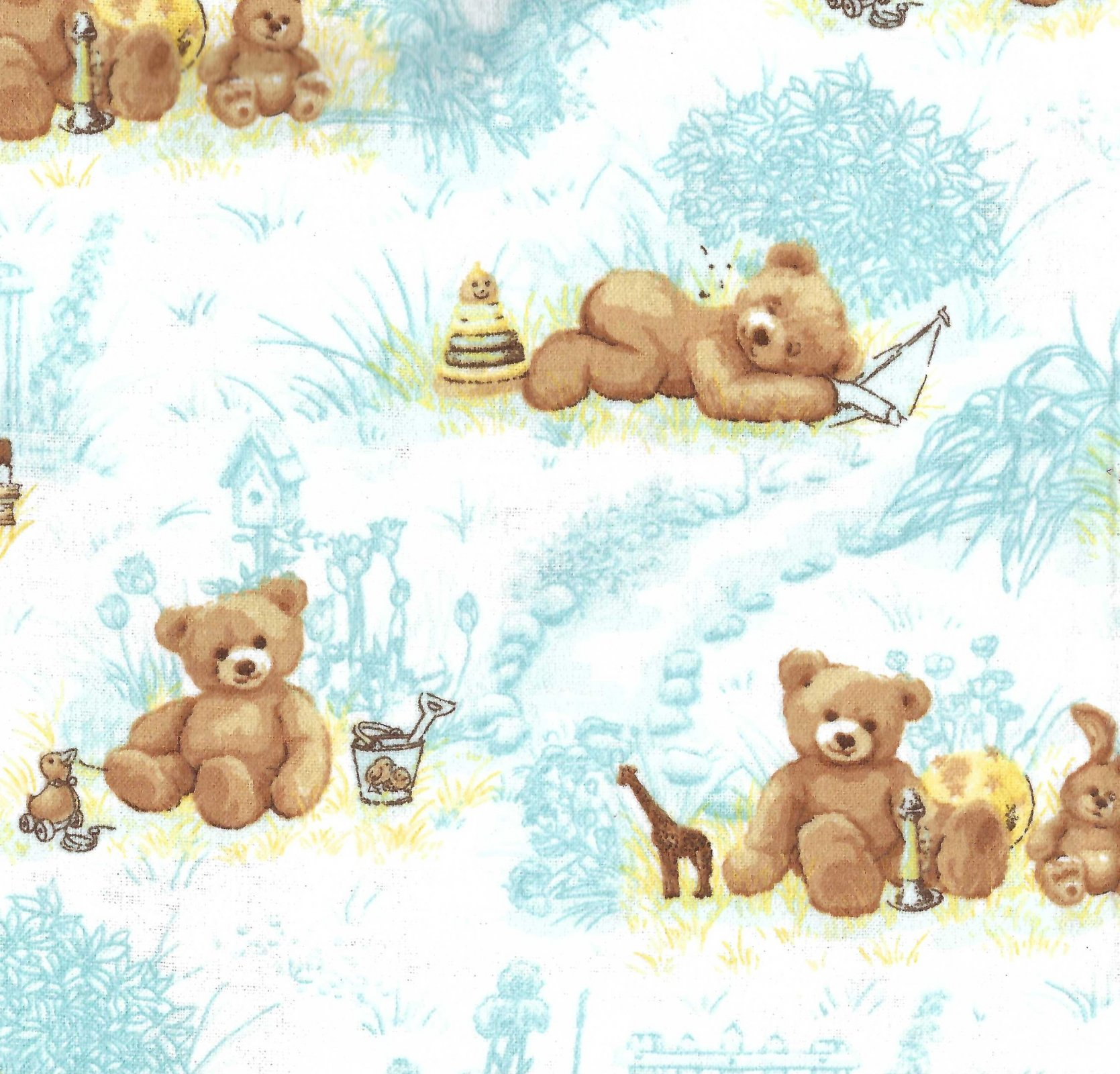 Flannel Hemstitched - Teddy Bears