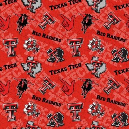 Sykel - NCAA-Texas Tech Red Raiders Tone on Tone Cotton - copy