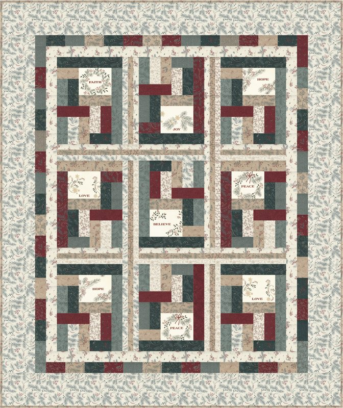 Moda - Warm Winter Wishes Quilt Kit - PREORDER