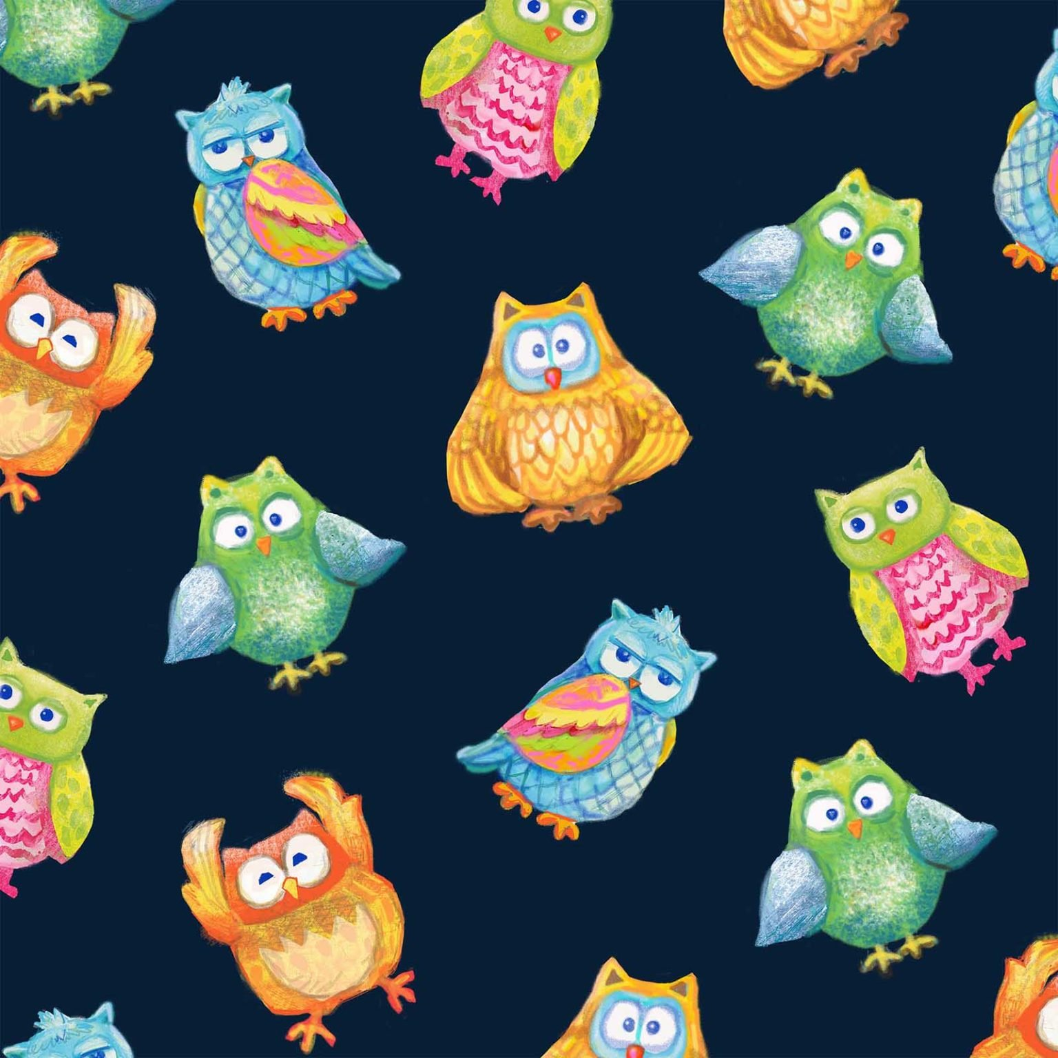 Oasis - Wee Ones Jungle - All-Over Owl