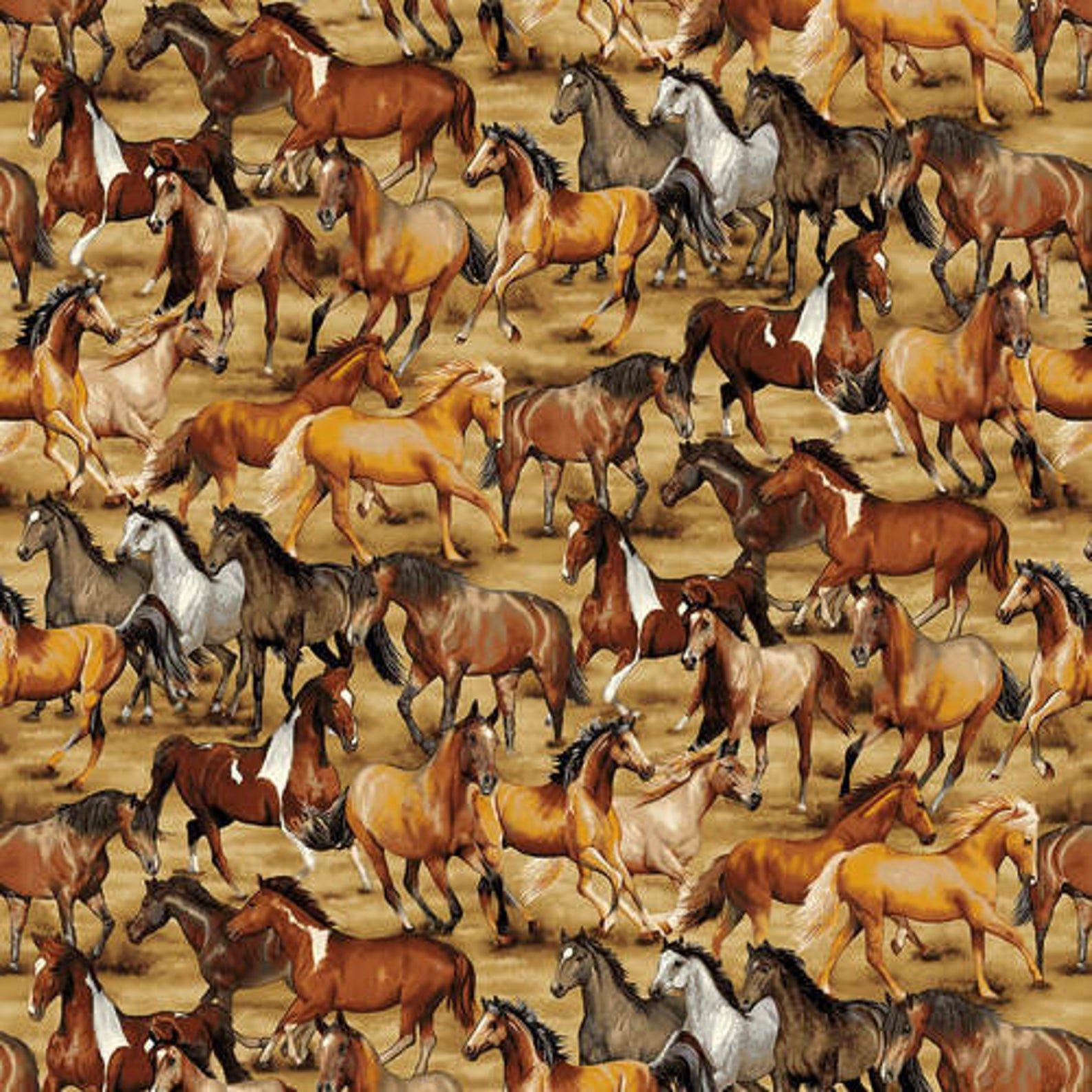 Benartex - Contempo - Wild Wild West Horses