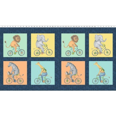 Clothworks - Bike Ride - Panel Blocks