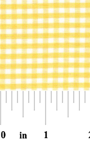 Fabric Finders - 1/8 in. gingham check -  yellow