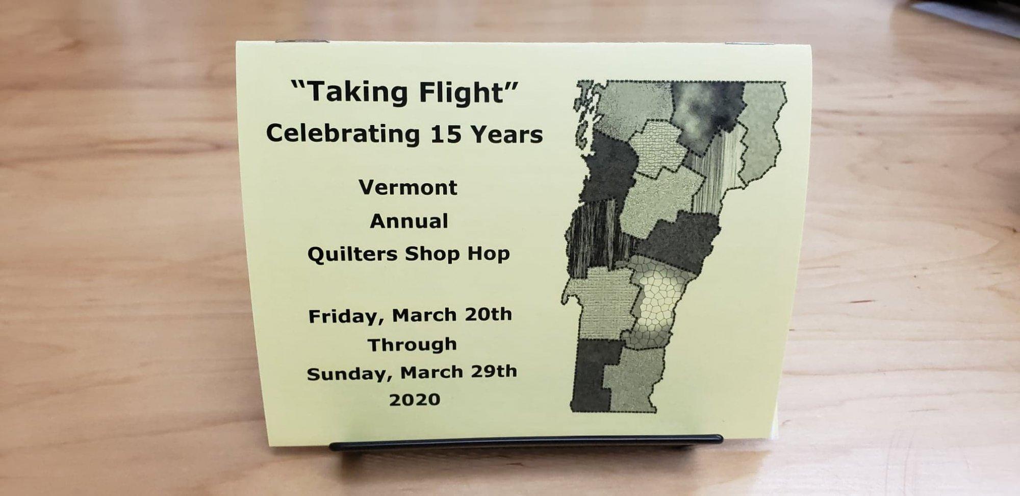 Vermont Shop Hop 2020 Passport