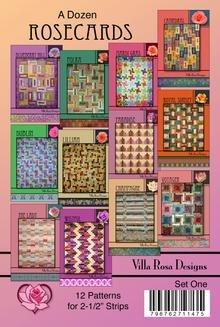 A Dozen Rosecards - 2 1/2 Strips