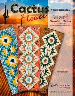 Cactus Flower Table Runner
