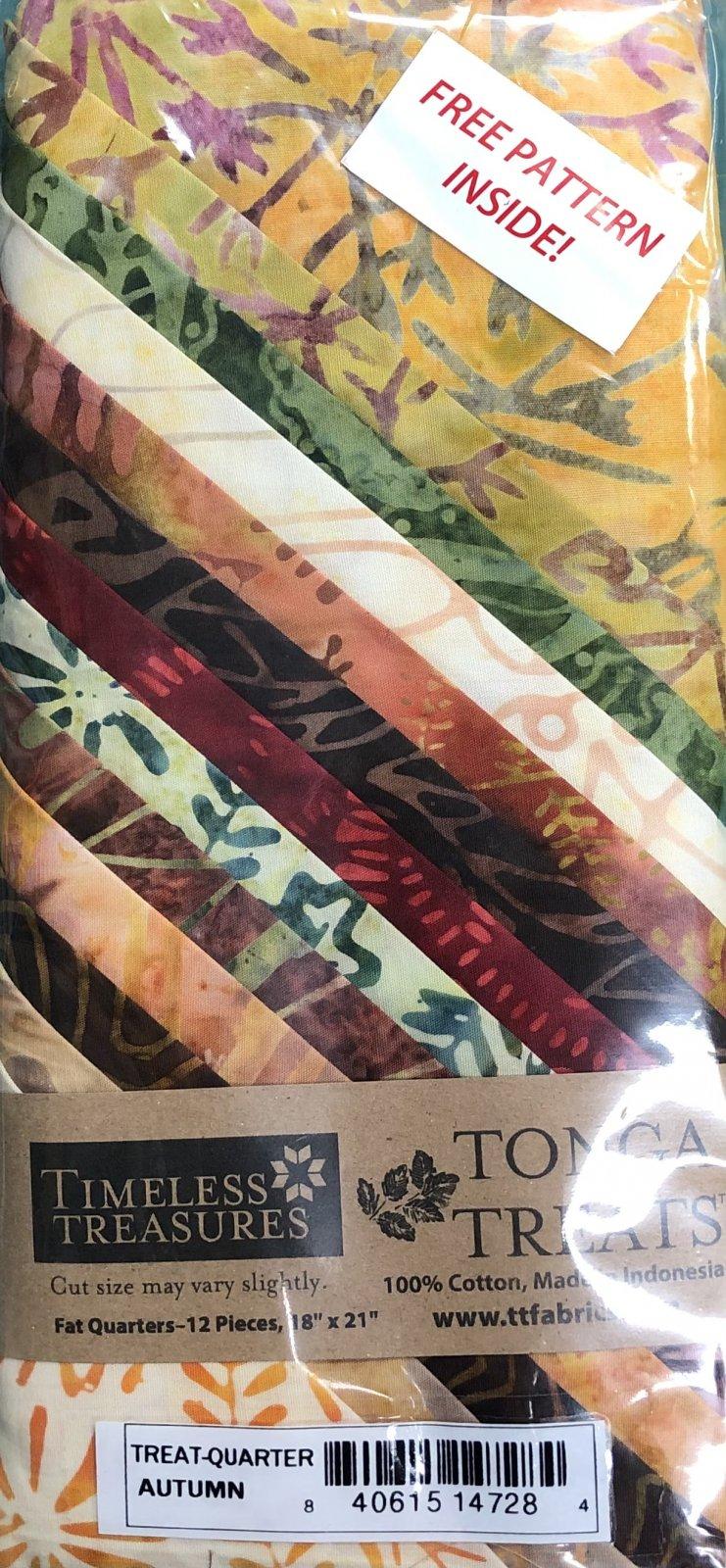 Tonga Treats - 12 Fat Quarters - Autumn