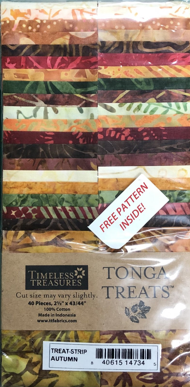 Tonga Treats - 40 2 1/2 Strips - Autumn