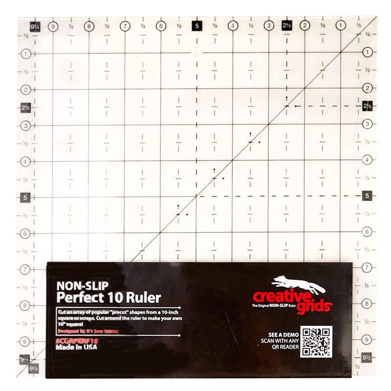 Creative Grids - Perfect 10 Ruler - Non-Slip