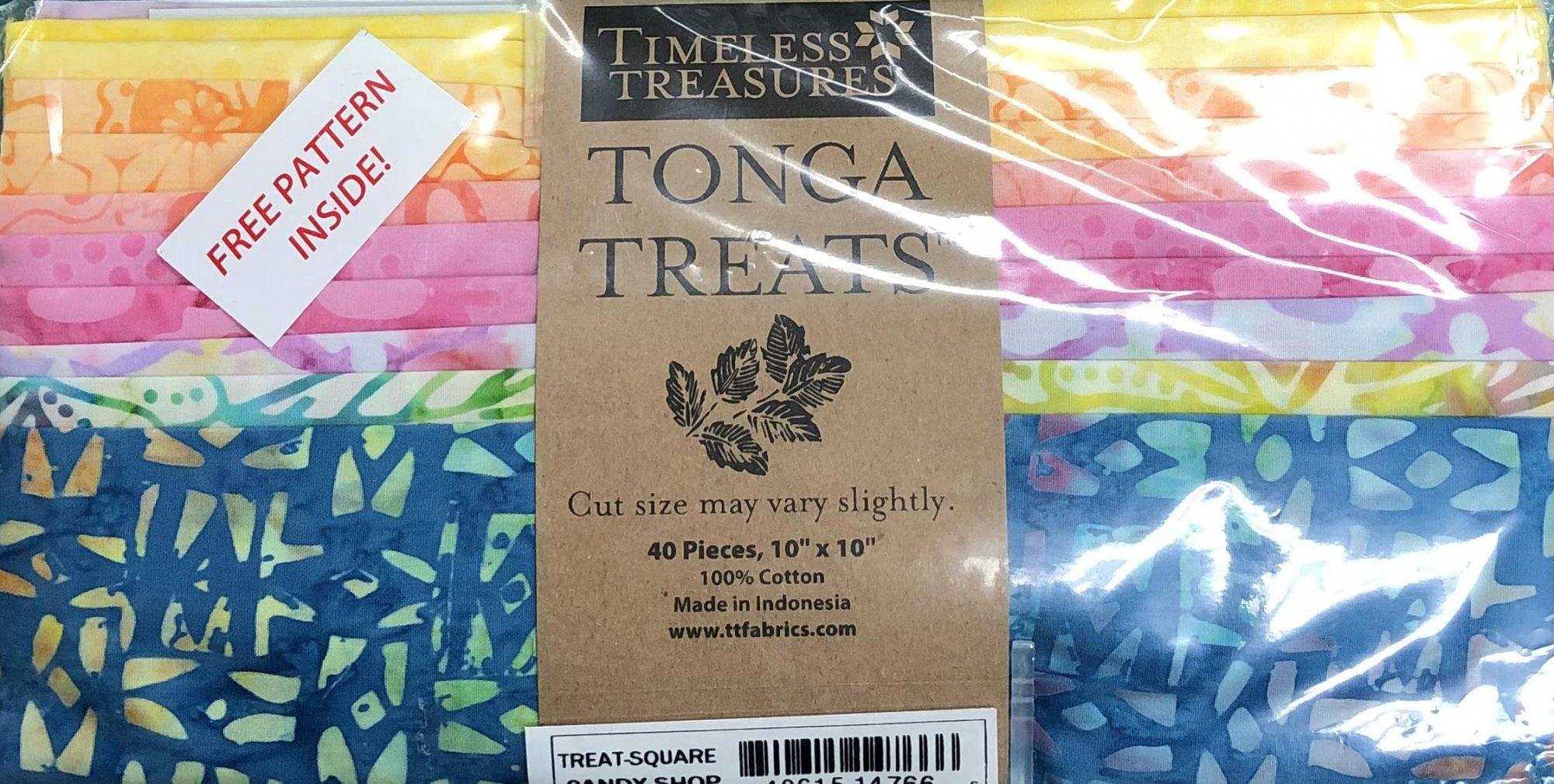Tonga Layercake - 10 x 10 Squares - Candy Shop