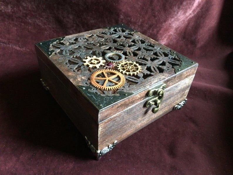 Laser Cut Gear Jewelry Box