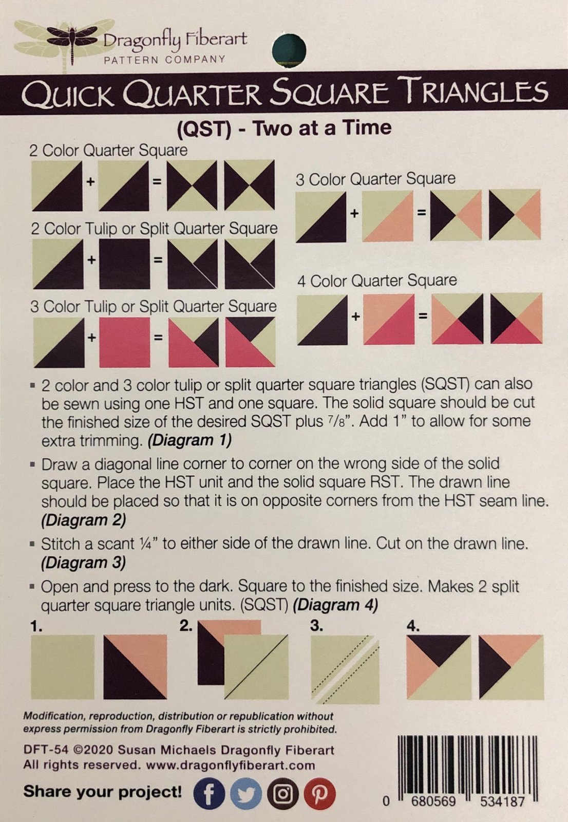 Quarter Square Triangles Learning Series Card