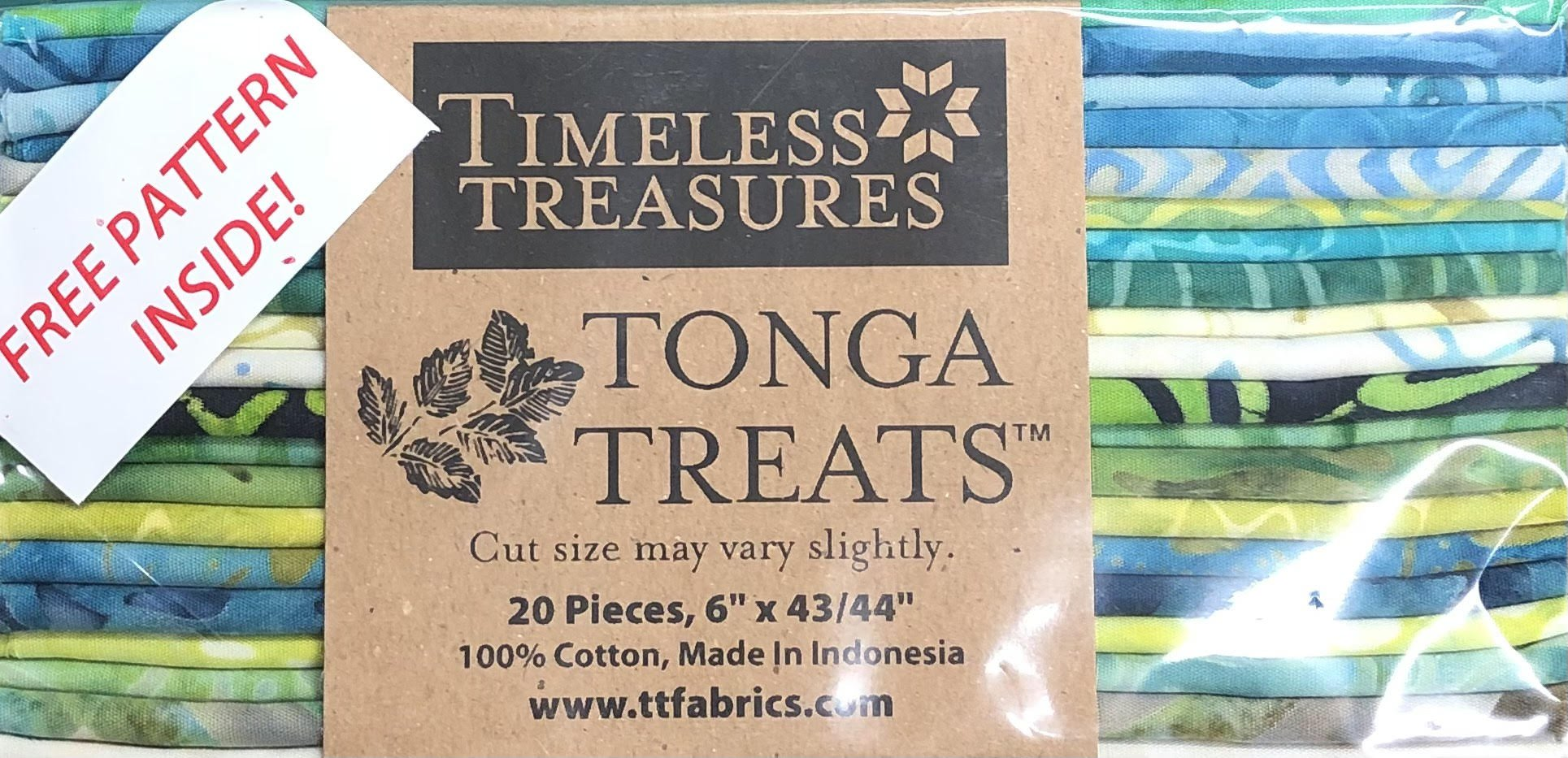 Tonga Treats - 20 6 x 42 Strips - Lagoon