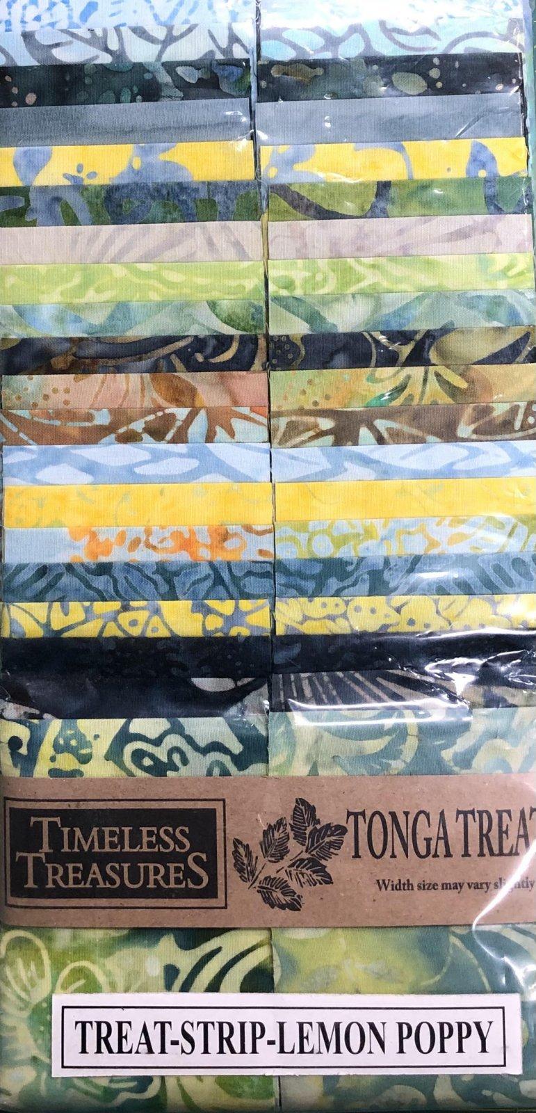 Tonga Treats - 40 2 1/2 Strips - Lemon Poppy