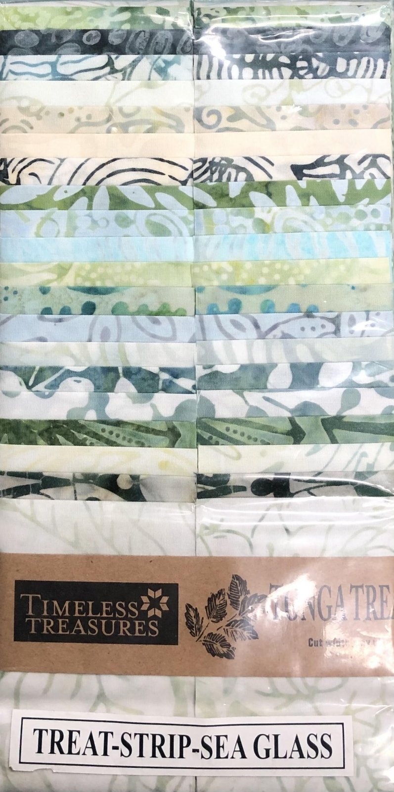Tonga Treats - 40 2 1/2 Strips - Sea Glass