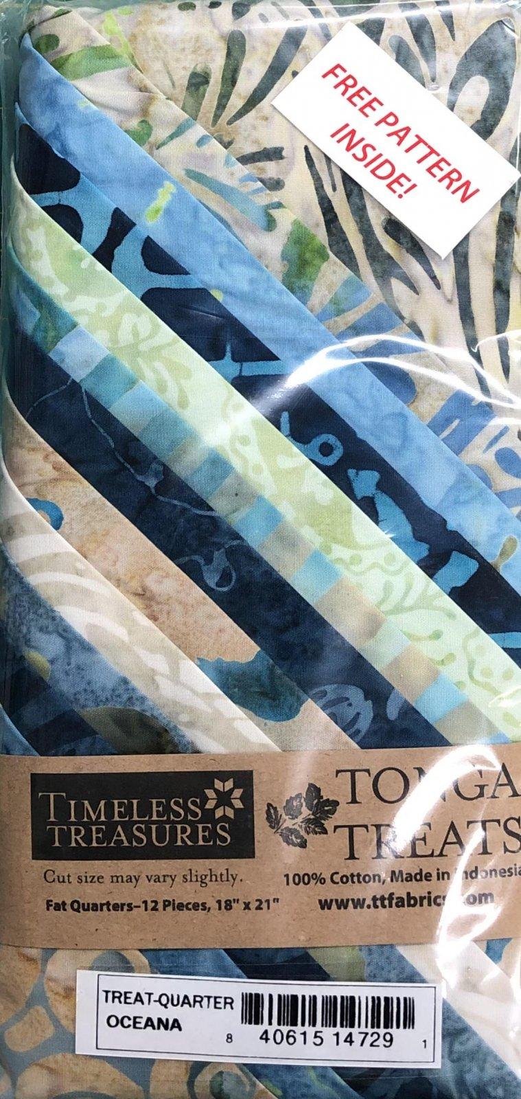 Tonga Treats - 12 Fat Quarters - Oceana