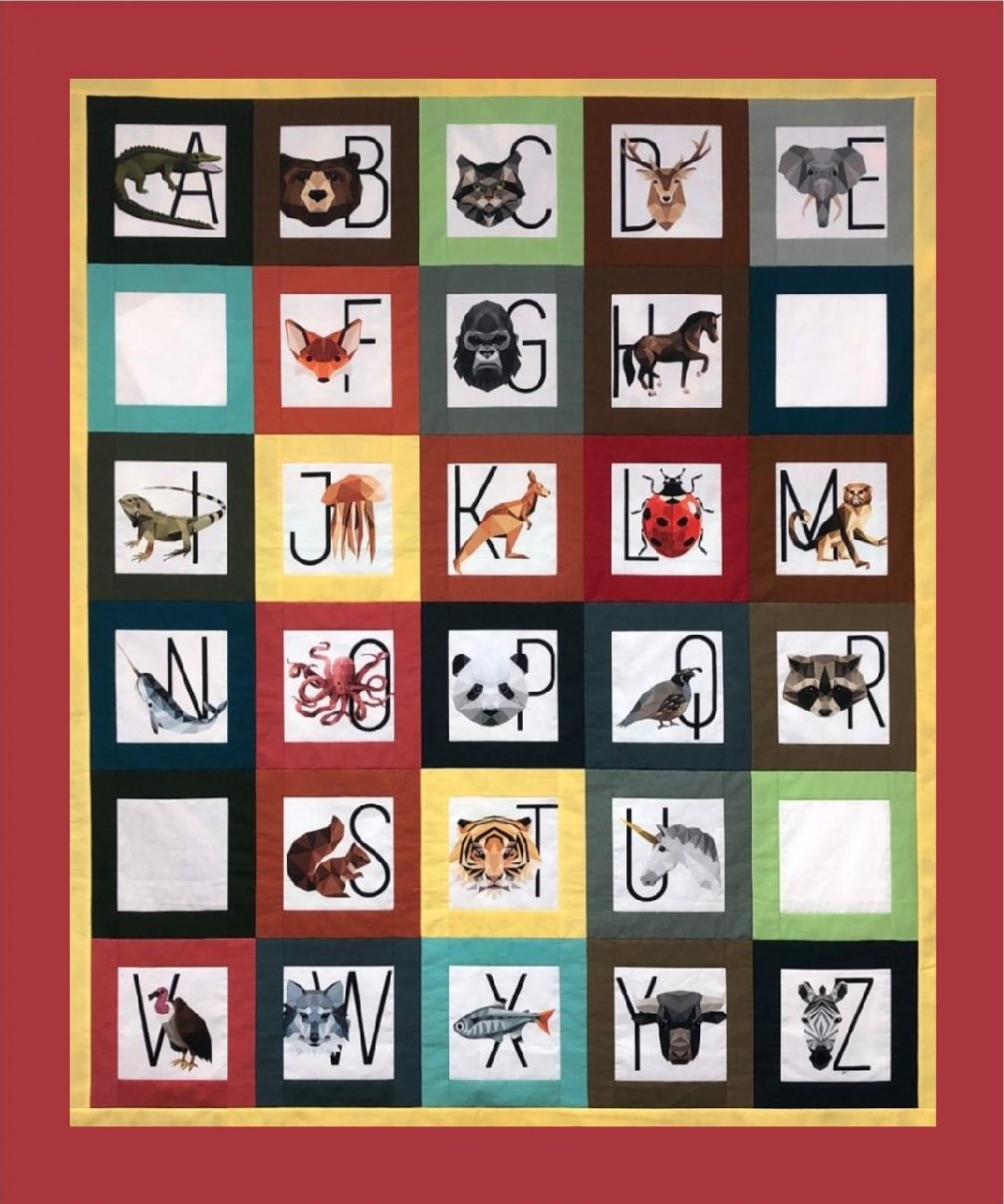 Aidan's Wicked Cool Zookeeper Quilt Kit - Brick Border