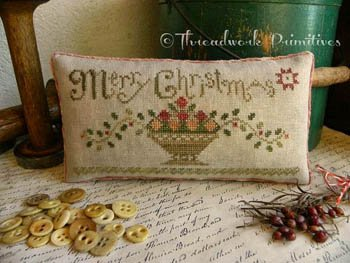Christmas Fruit Basket ~ Threadwork Primitives