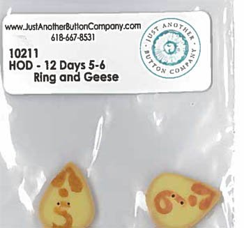 12 Days Rings & Geese Button Pack