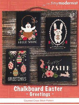 Chalkboard Easter Greetings ~ Tiny Modernist
