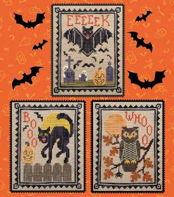 Halloween Critter Trio ~ Waxing Moon