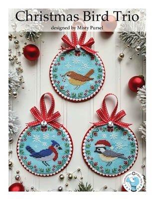 Christmas Bird Trio ~ Luminous Fiber Arts