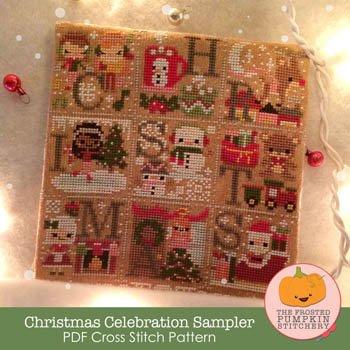 Christmas Celebration Sampler ~ Frosted Pumpkin