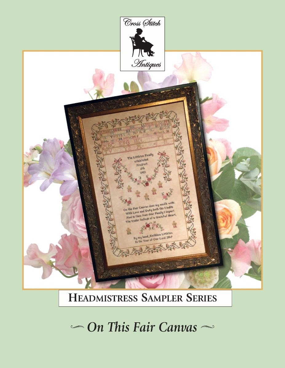 On This Fair Canvas, Family Tribute Sampler ~ Cross Stitch Antiques