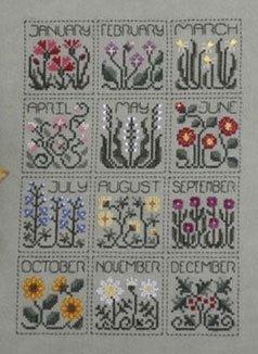 A Year of Flowers ~ Drawn Thread