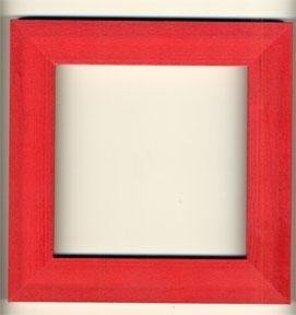 6 x 6 Wood Frame Holiday Red ~ Mill Hill