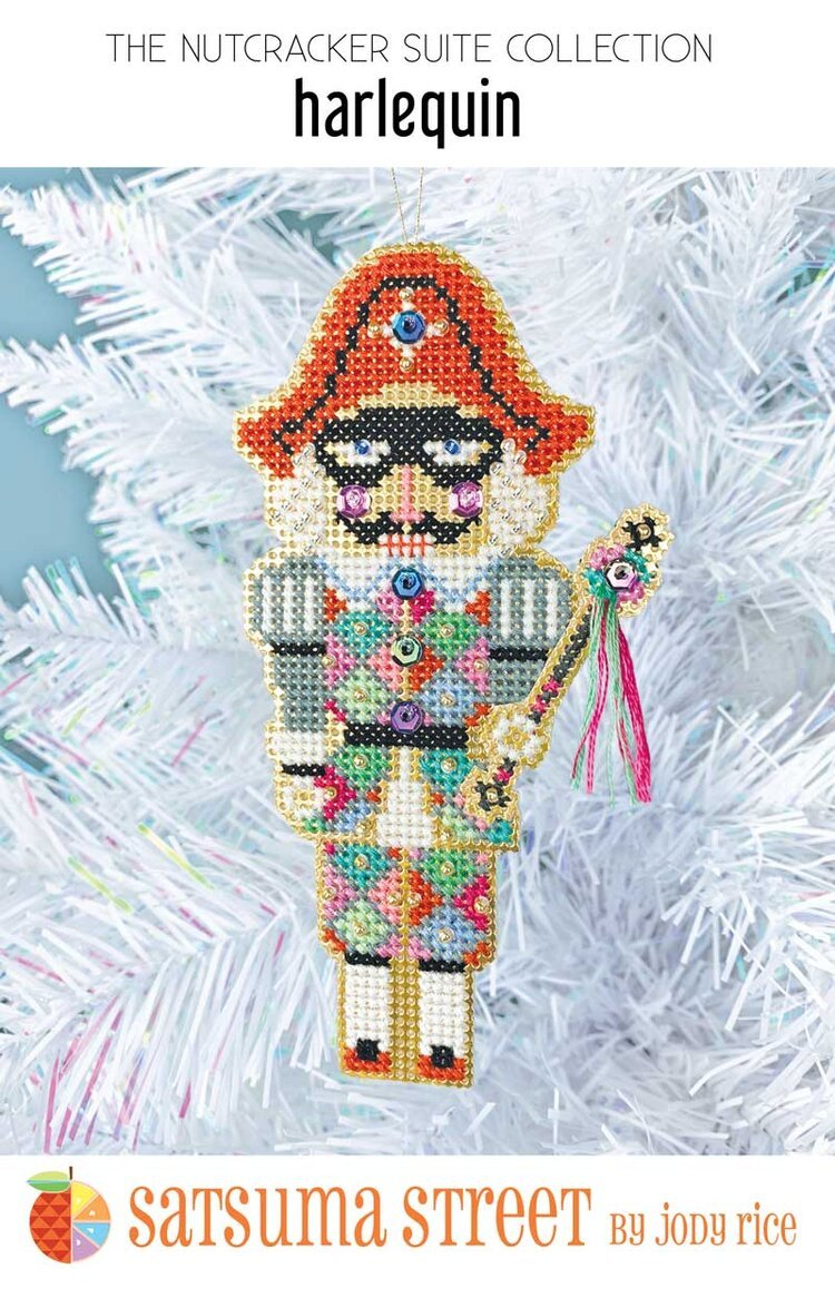 Harlequin Nutcracker Ornament Kit ~ Satsuma
