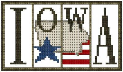 Iowa Flag Mini Block ~ Hinzeit