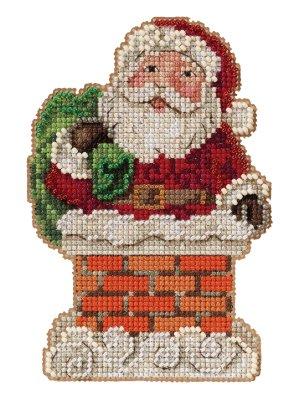 Santa in Chimney ~ Mill Hill