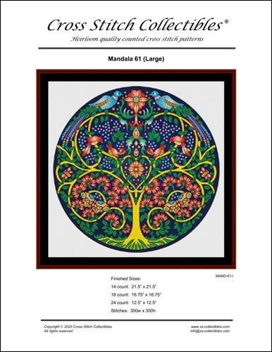 Mandala 61 (Large) ~ Cross Stitch Collectibles