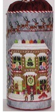 Gingerbread Cottage Drum ~ Praiseworthy Stitches
