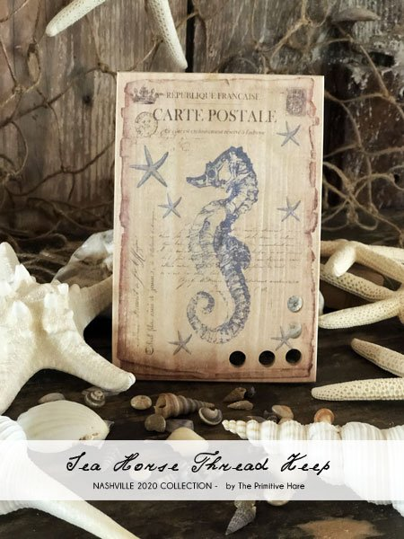 Sea Horse Thread Keep ~ Primitive Hare
