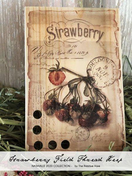 Strawberry Field Thread Keep ~ Primitive Hare