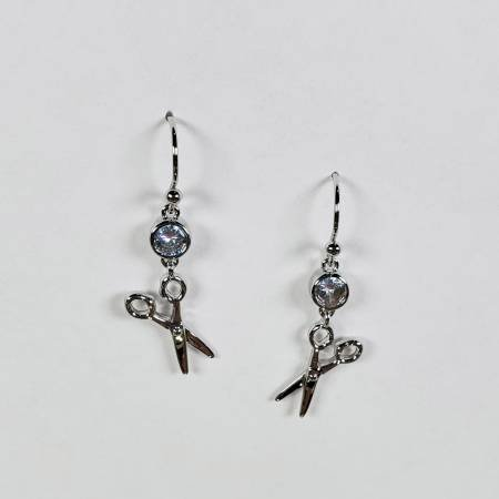 Scissor Drop Earrings ~ Silver