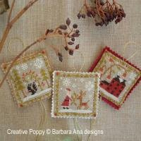 Christmas Ornament Trio ~ Barbara Ana