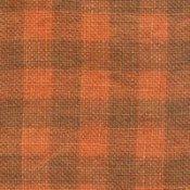 28 ct Natural/Pumpkin Gingham Linen