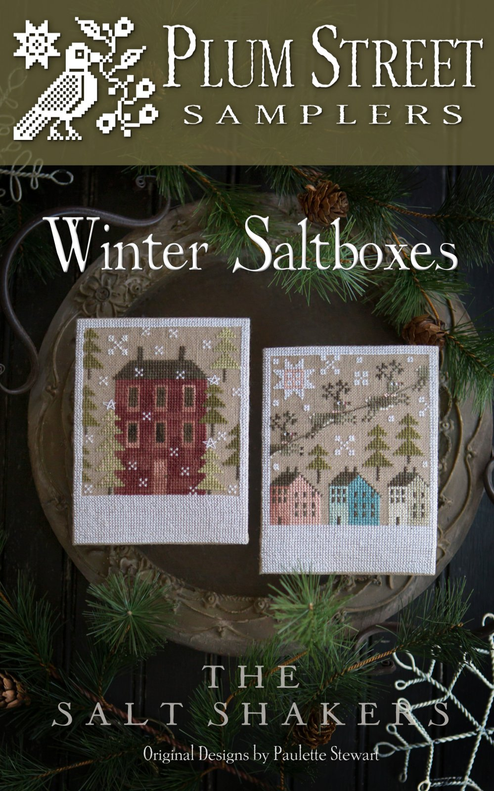 Winter Saltboxes ~ Plum Street Samplers