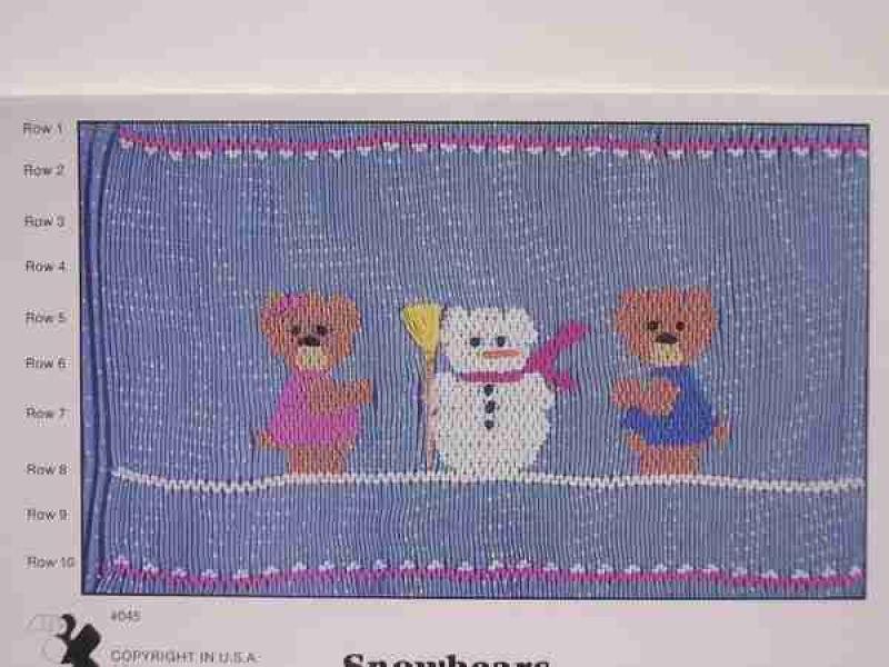 Fancy Stitches-Snowbears