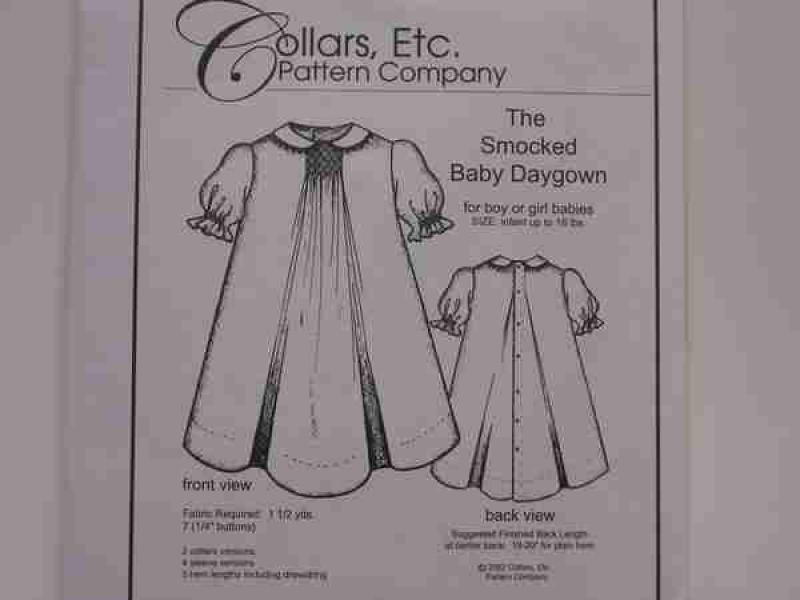 Collars Etc. Smocked Baby Daygown