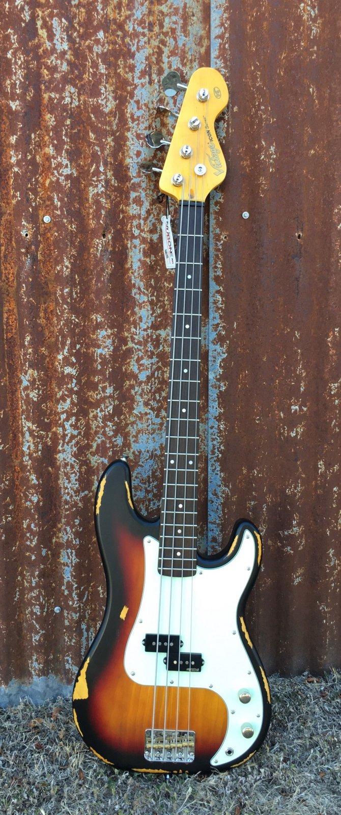 Vintage ICON V4MRSSB Sunset Sunburst Bass