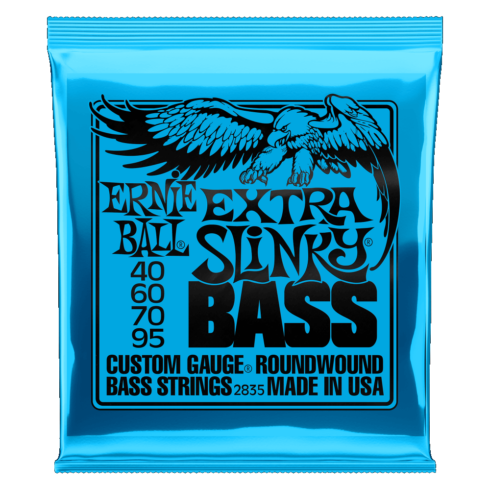 Ernie Ball EXTRA SLINKY NICKEL WOUND BASS STRINGS - 40-95 GAUGE