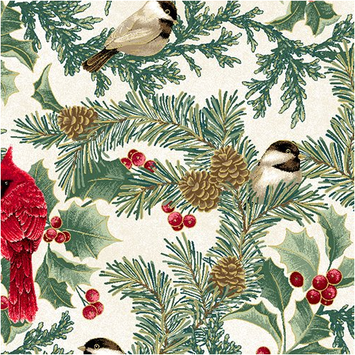 Cardinal Elegance Natural (Winter Elegance) by Benartex (12343M-09)